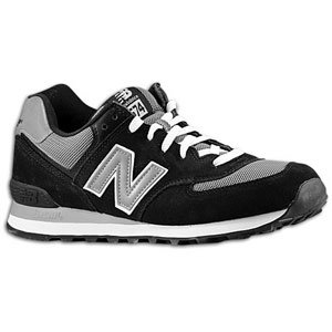 New Balance Men's ML574 Sneaker,Black/Grey,12 D US