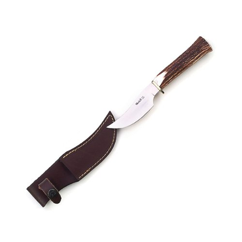 Muela 8.25-Inch Fixed Blade Skinner Knife, Stag Handle