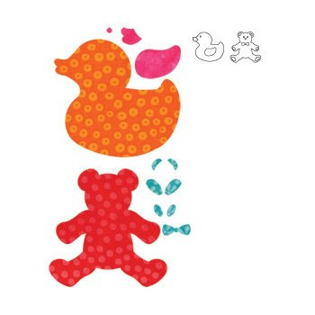 Accuquilt Go! Fabric Cutting Dies; Baby; Baby front-910138