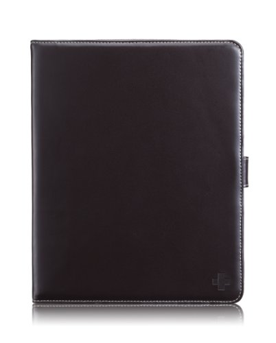 Simplism Leather Collection Flip Leather Case for iPad Chocolate Black