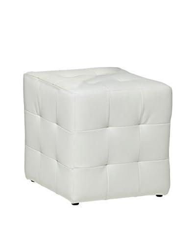 13 Casa  Pouf Joy 3 Bianco 45 x 45 x 45 cm