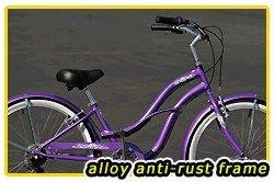 Anti-Rust aluminum Frame! Fito Brisa Alloy 7-speed Women - Purple, 26