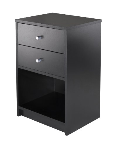Purchase Winsome Ava Accent Table with 2-Drawer in Black Finish