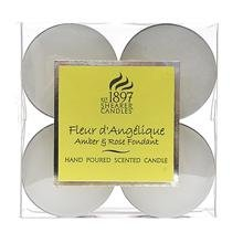 Fleur Dangelique Rose Amber - Shearer Scented Candle - Tealights - 4 Hours - Pack Of 8 by Shearer Candles