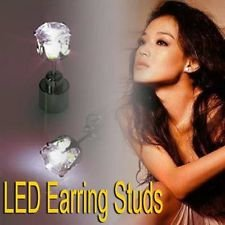 White 1Pc Light Up Led Earring Ear Stud Dance Party Accessories By Chonlyshop
