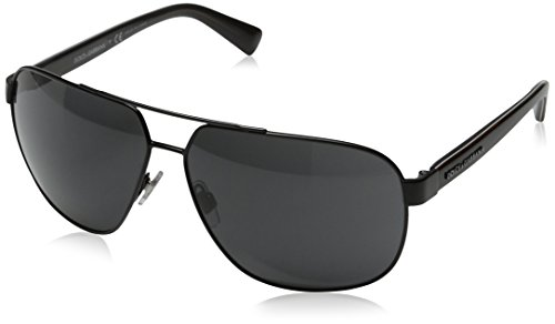 D&G Dolce & Gabbana Men's Urban Aviator Sunglasses, Black & Grey, 63 mm