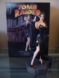 Tomb Raider Lara Croft Black Evening Dress Statue Varner