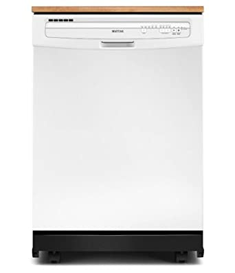 "Maytag MDC4809PAW JetClean Plus 24"" White Portable Full Console Dishwasher - Energy Star"