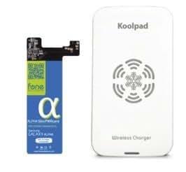 Fonesalesman Wireless Charging Bundle Qi for Samsung Galaxy Alpha, includes Koolpad Charger Pad & Alpha SlimPWRcard Receiver Card Module