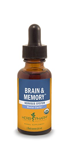 Herb Pharm Brain and Memory Herbal Formula with Ginkgo for Memory and Concentration- 1 Ounce