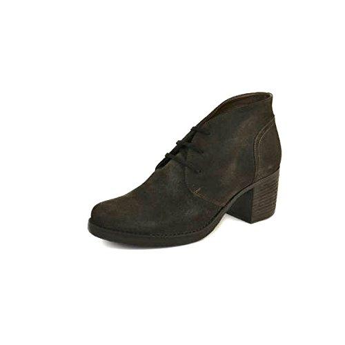 Scarpe polacchini con tacco donna Janet Sport numero 35 in camoscio grigio 30875GRIGIO