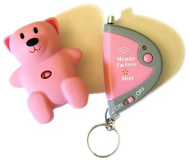 Mommy I'm Here CL305HP Hot Pink Bear Child Locator,