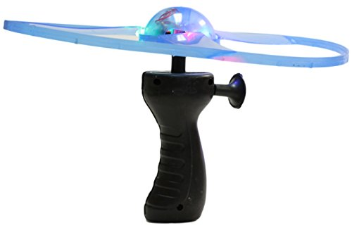 975-Inch-Light-Up-Flying-Saucer-With-Hand-Launcher-Choice-of-Color