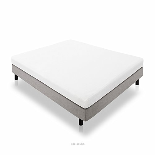 LUCID 5 Inch Cool Gel Memory Foam Mattress – Dual-Layered – Firm Feel – Queen Size