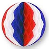 Beistle 55901-RWB Packaged Tissue Ball, 12-Inch, Red/White/Blue