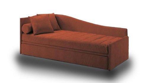 Einzelbett mit ausziehbarem und zwei Matratzen eingeschlossen! Bezug aus Kunstleder. Produktion MADE IN ITALY!!!