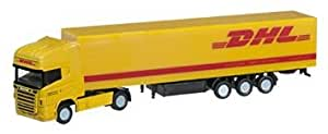 Amazon.com: Herpa 066266 - Scania R TL Koffer-Sattelzug DHL