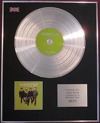 WEEZER CD Platinum Disc-WEEZER