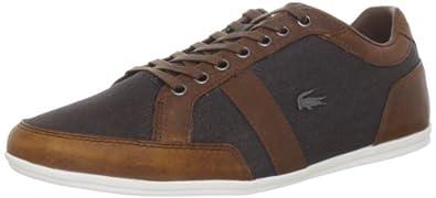 Lacoste Men's Alisos 5 Fashion Sneaker,Dark Brown/Tan,8 M US