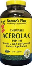 Natures Plus Acerola-C Chewable, 500mg Vitamin C - 150 Tablets