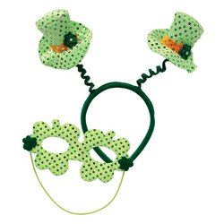 Leprechaun Hat Boppers w/Mask Party Accessory (1 count) (1/Pkg)