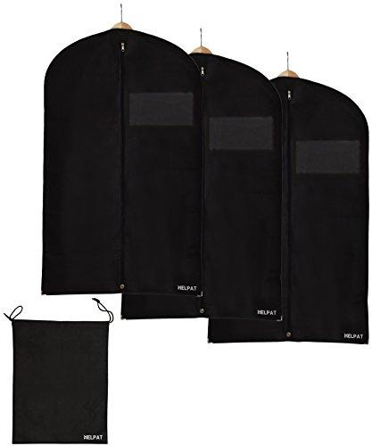 3x-Premium-KleidersackAnzugsack-100-x-60-cm-inkl-kostenlosem-Schuhbeutel-hochwertige-KleiderhlleAnzughlle-aus-atmungsaktivem-Material-erstklassiger-Schutz-fr-Ihre-Anzge-und-Kleider