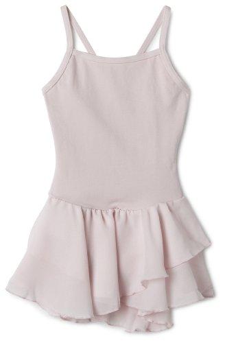 Capezio Little Girls' Camisole Cotton Dress,Pink,S (4-6) front-923146