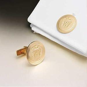 University of Wisconsin 18 Karat Gold Cufflinks by M.LaHart & Co.