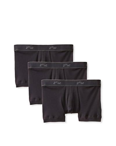 2(x)ist Men's Essentials No Show Trunk-3 Pack
