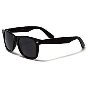 Vintage Retro Classic Polarized Lens Trendy Wayfarer Style Sunglasses - 80's Fashion - Mens or Womens - More Colors Available,Black