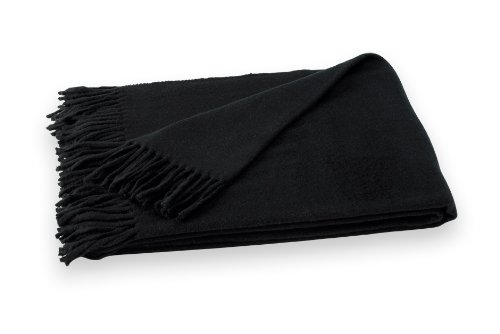 Lands Downunder Jet Black Assiro Solid Throw