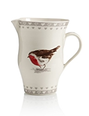 Winter Robin Jug