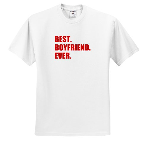 Inspirationzstore Typography - Red Best Boyfriend Ever Text Anniversary Valentines Day Gift For Him - T-Shirts - Youth T-Shirt Small(6-8)