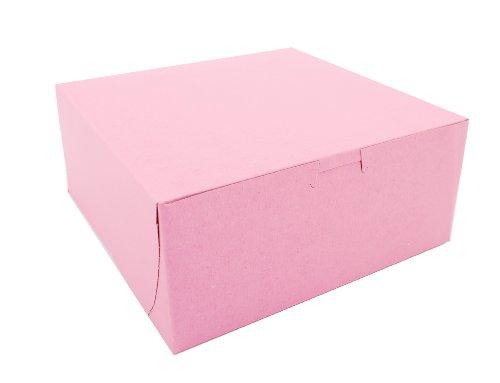 Southern Champion Tray 0861 Pink Paperboard Non-Window Lock-Corner Bakery Box, 9