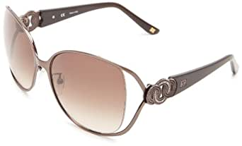 Escada Sunglasses SES800-K05 Oversized Sunglasses,Brown & Stones,59 mm