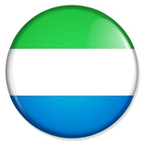 Button Flagge Sierra Leone - Sierra Leone Badge, Sierra Leone Pin, Sierra Leone Anstecker, Sierra Leone Button, Sierra Leone Ansteckpin