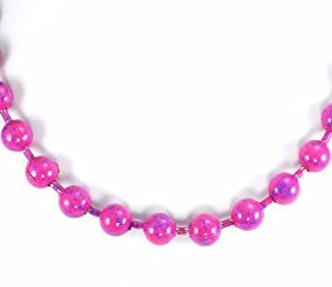 Buy Steve Madden Pink and Purple Ball Chain Necklace by Steve Madden