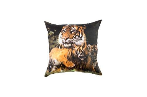 Eridaneo Cuscino Bombato ANIMALI NATURA, Colore: Tigri, Misura: cm 42x42
