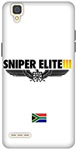 The Racoon Grip The Sniper's of Africa hard plastic printed back case / cover for Oppo F1