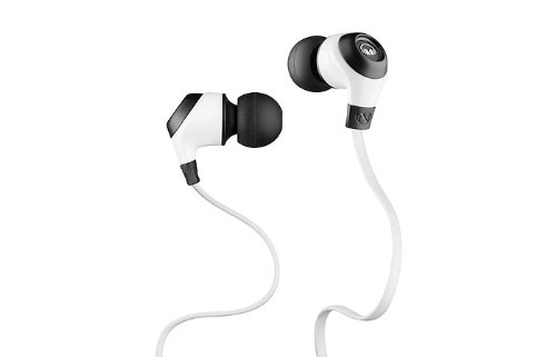 Monster Power Ncredible Nergy In-Ear Headphones (Frost White) With Noise Isolating Ear Tips
