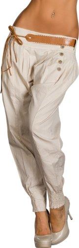 Harem-Hose mit asymmetrisch sitzender Zier-Knopfleiste
