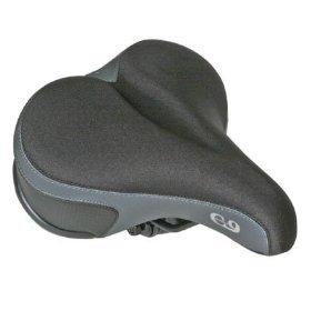 Sunlite Cloud-9, Bicycle Suspension Comfort Saddle, Comfort Gel Ladies, Tri-Color Lycra