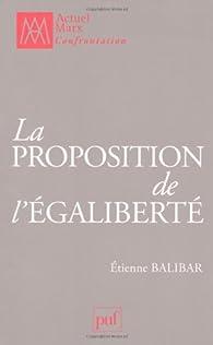 La proposition de l'égaliberté par Étienne Balibar