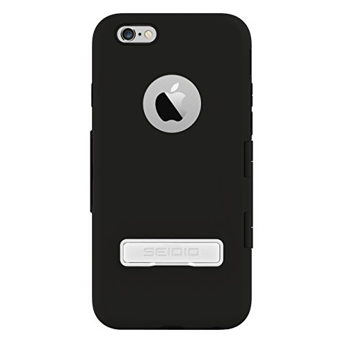 Seidio Capsa Touchview Case With Metal Kickstand For Iphone 6 - Retail Packaging - Black