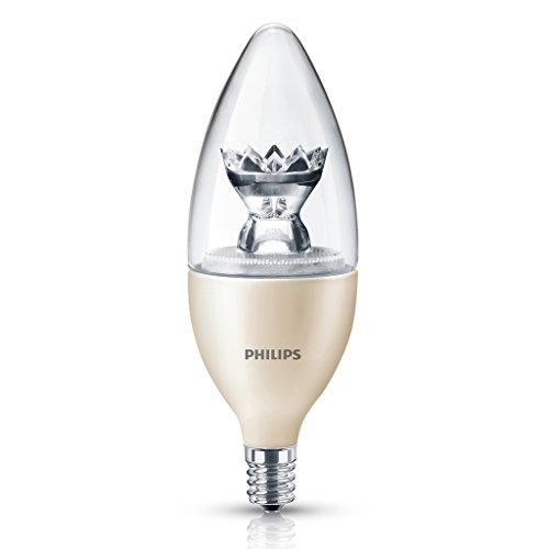 Philips 435057 4.5-Watt Dimmable Led B13 Candelabra Base Decorative Candle Light Bulb, Soft White