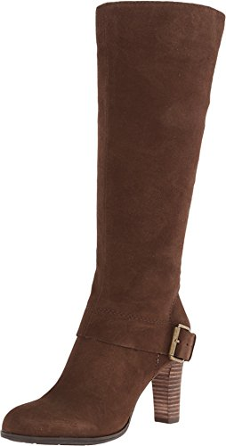 Nine West Women'S Niston Dark Brown Suede Boot 8 M