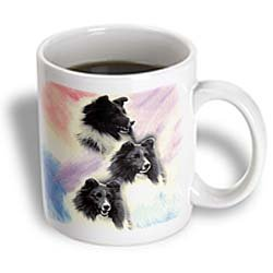 3dRose Black Sheltie Ceramic Mug, 11-Ounce