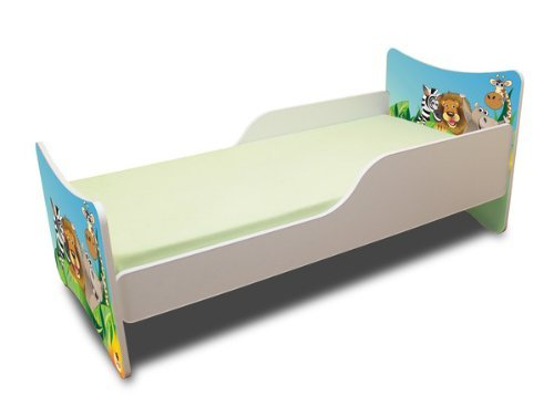 Best For Kids LIT POUR ENFANT 70x140 Zoo + Matelas + à lattes + Wall Stickers