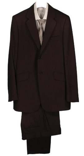 Paul Smith Single Breasted 2 Button Stripe Suit - Brown - 40