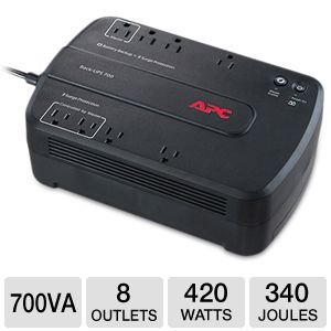 APC(R) Back-UPS(R) ES 700VA Battery Backup, Broadband, 700VA/330 Watt, 8 Outlets